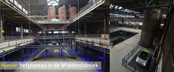 Hefplateau van de SugarCity Middenfabriek